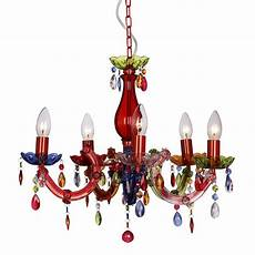 Multi Coloured Ceiling Light Modern Multi Coloured Therese 5 Way Ceiling Light