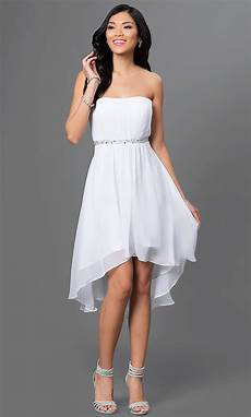 white high low dress with shawl promgirl