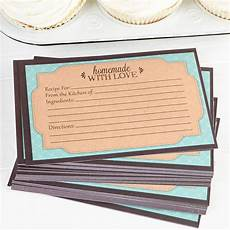 Homemade Recipe Cards Quot Homemade With Love Quot Blank Recipe Cards Kitchen Utensils