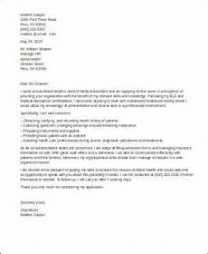 Entry Level Medical Assistant Cover Letter Free 8 Sample Cover Letter For Medical Assistant In Ms Word