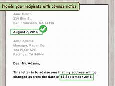 Address Letters How To Write A Letter For Change Of Address Wikihow