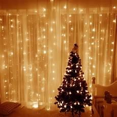 String Fairy Wedding Curtain Light Window Curtain Icicle String Light 306 Led 9 8ft Led
