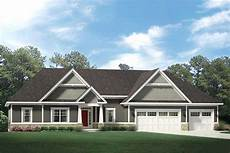 one story craftsman house plan with 3 car garage