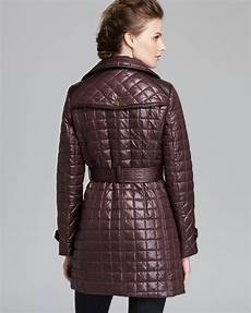 Gallery Coat Size Chart Via Spiga Coat Quilted Asymmetric Zip Belted In Burgundy