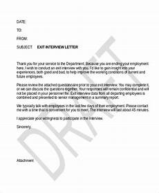 Exit Letter To Employer Free 10 Sample Exit Interview Forms In Pdf Ms Word