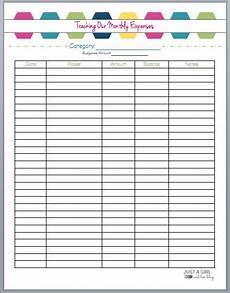 Monthly Spending Free Printable Budget Binder Budgeting Worksheets