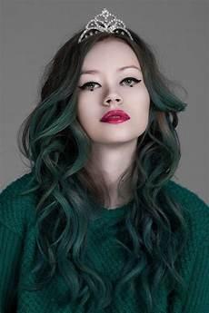 hair green green hair on