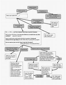 Chart Script Campaign Sick Flow Chart Voter Contact Script