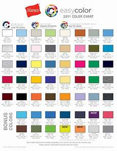 Hanes Chart Common T Shirt Brands Tee Blank Color Swatches Tee Fetch