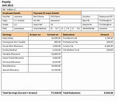 Salary Slip Format India 50 Salary Slip Templates For Free Excel And Word