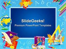 Free Education Powerpoint Templates Frame Education Powerpoint Template 0610