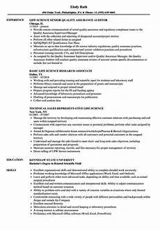 Science Resume Examples Life Science Resume Samples Velvet Jobs