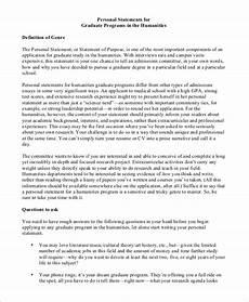 Personal Statement For Graduate School Examples Free 9 Personal Statement Samples In Ms Word Pdf