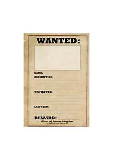 Wanted Poster Template For Pages Wanted Poster Template Teaching Resources