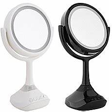 Danielle 5x True Image Lighted Music Mirror In White Beauty Bed Bath Amp Beyond