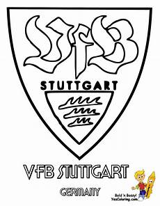 Ausmalbild Vfb Wappen Soccer Coloring Pages Italy Germany Spain Uefa Football