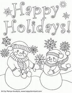 Malvorlagen Urlaub Kostenlos Happy Holidays Coloring Page Coloring Home