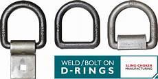 sling choker mfg weld and bolt on d rings