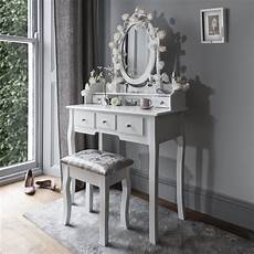 white dressing table stool mirror set in 2020