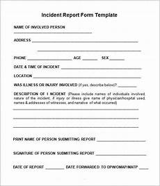 Project Management Incident Report Template Incident Report Form Free Download Printable Templates Lab