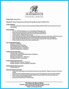 Resume For A Server Expert Banquet Server Resume Guides You Definitely Need