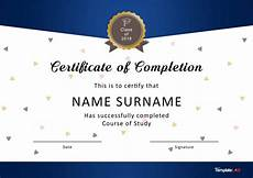 Certificates Templates 40 Fantastic Certificate Of Completion Templates Word