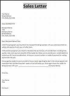 Letter Format For Word Sales Letter Sample Free Word Templates