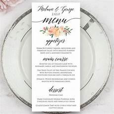 Wedding Menu Cards Wedding Menus Printed Menus Menu Cards Dinner Menus