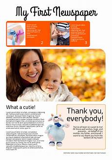 Make Your Own Birth Announcements Make Your Own Newspaper Happiedays