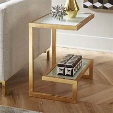 rex glass top sled end table with storage side tables