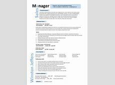 Sales Manager CV example   DayJob.com