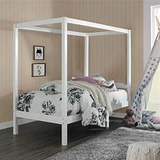 White Bed Canopy Hillsdale Sutton Wood Canopy Bed White Walmart
