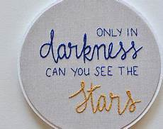 inspirational quote embroidery fiber embroidery