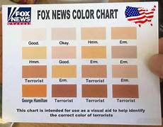 Skin Color Scale Chart Foxnews Has Released Their Skin Color Chart To Help Its