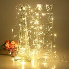 Wire Christmas Tree With Led Lights 2m 5m 10m Led Star String Lights Led Fairy Lights