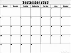 Calendar 2020 September Printable September 2020 Blank Calendar Templates