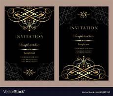 E Invitation Design Luxury Invitation Card Template For Design Vector Image