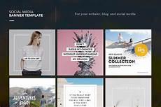 social media design templates social media banner template web elements creative market