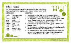 Recipe Card 3x5 Template by Free Printable Recipe Card Template For Word