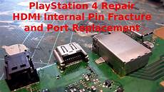 White Light On Ps4 But No Picture Playstation 4 Ps4 Repair Hdmi Socket Internal Pin Break