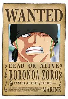 One Piece Wanted Poster One Piece Wanted Zoro New Poster Impericon Com Worldwide