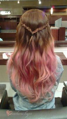 Dark Brown Hair Dip Dyed Light Brown Long Brown Hair With Pink Dip Dye Hairstyles Pinterest