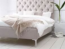 elise buttoned headboard upholstered bed living it up