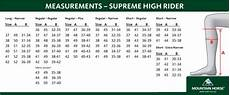 Mountain Horse Boots Size Chart Mountain Horse Supreme High Rider Boots Black