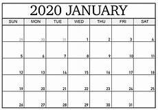 January Editable Calendar 2020 Printable January 2020 Calendar Word Doc Template Net