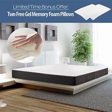 12 quot inch cool gel memory foam mattress bed king size