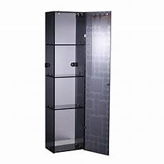 Homcom 4 Tier Stainless Steel Wall Mounted Medicine Cabinet by Homcom Stainless Steel 4 Tier Glass Storage Cabinet Wall