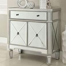 mirror wine cabinet w 2 doors by coaster furniture
