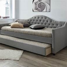 vic furniture grey york single day bed frame with trundle