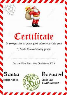 Santa Certificate 3 Piece Printable Christmas Letter From Santa Love A